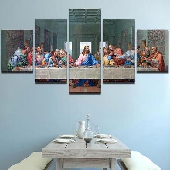 The Last Supper Canvas Wall Art Dining Room