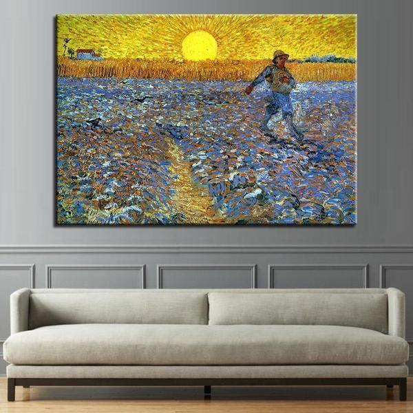 The Sower 1888 by Vincent Van Gogh Canvas Print Wall Art — canvasx.net