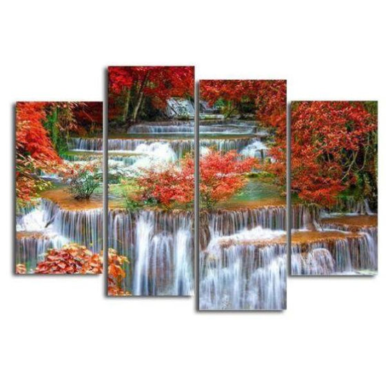 Tiered Waterfall Canvas Wall Art