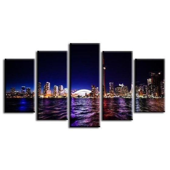 Toronto Canada Night View Canvas Wall Art