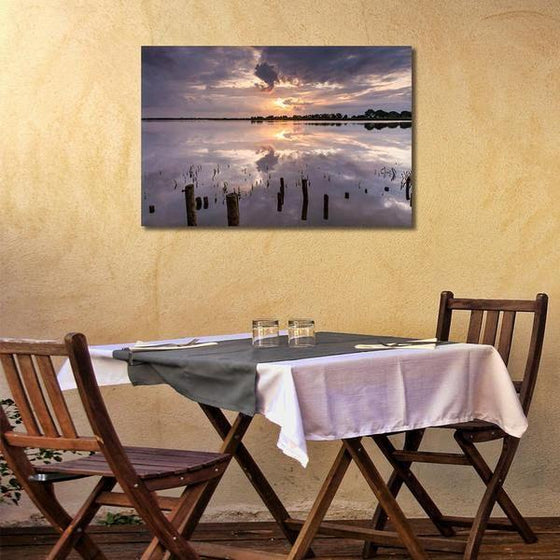 Tranquil Sea Sunset Wall Art Dining Room