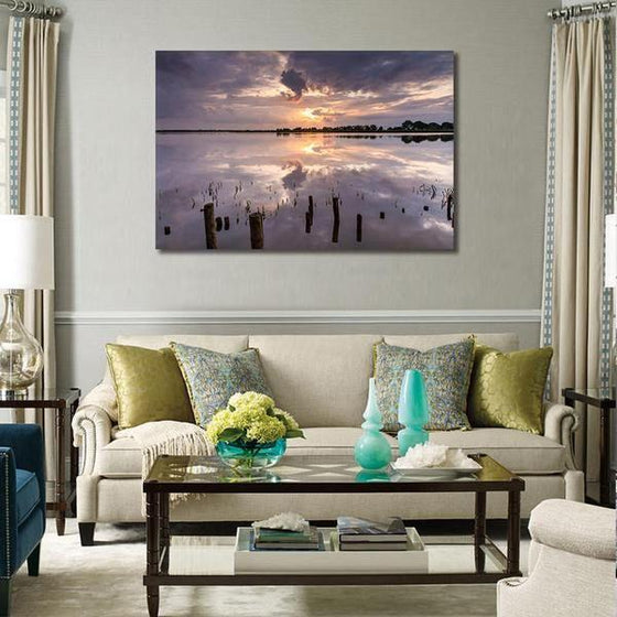 Tranquil Sea Sunset Wall Art Living Room