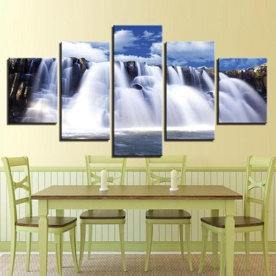Cascades Waterfall Canvas Wall Art Dining Room