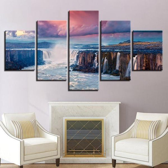 Tropical Waterfall Wall Art