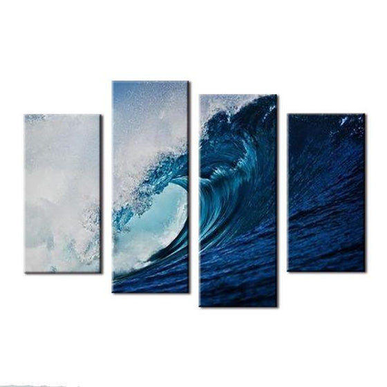 Tubing Wave Canvas Wall Art