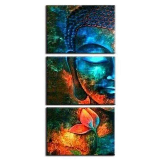 Turquoise Buddha Canvas Wall Art