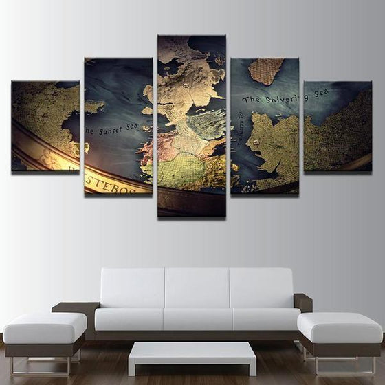 Game of Thrones Inspired Map Canvas Wall Art Office