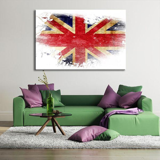 UK Flag Contemporary Canvas Wall Art Office