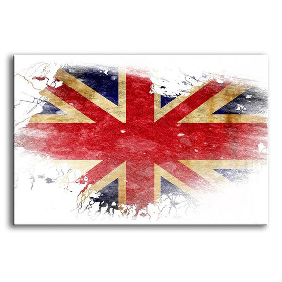 UK Flag Contemporary Canvas Wall Art