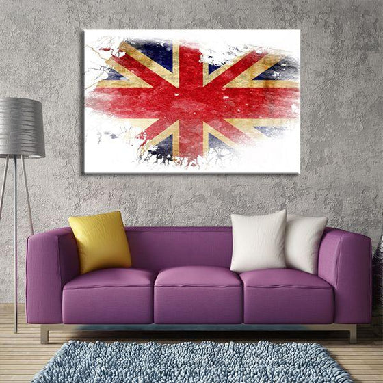 UK Flag Contemporary Canvas Wall Art Living Room