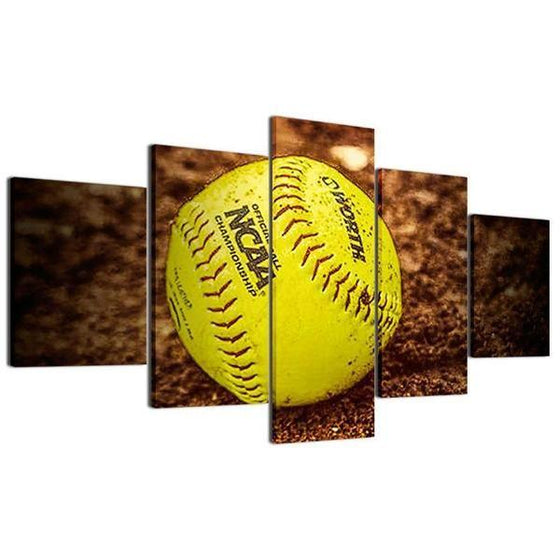 Baseball On The Ground Canvas Wall Art Prints