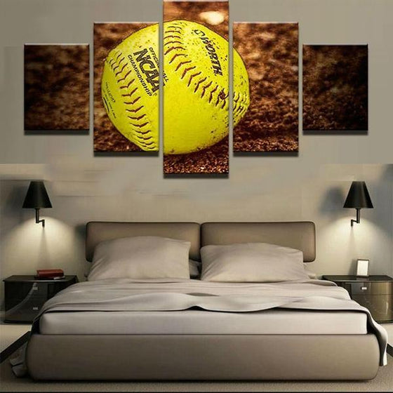 Baseball On The Ground Canvas Wall Art Bedroom
