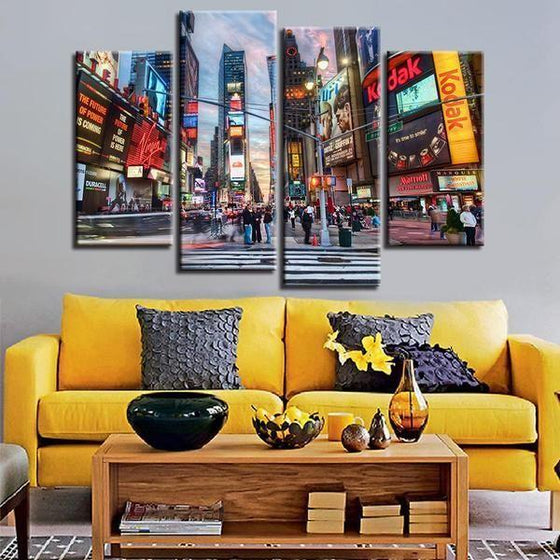 Urban Wall Art Canvas Idea