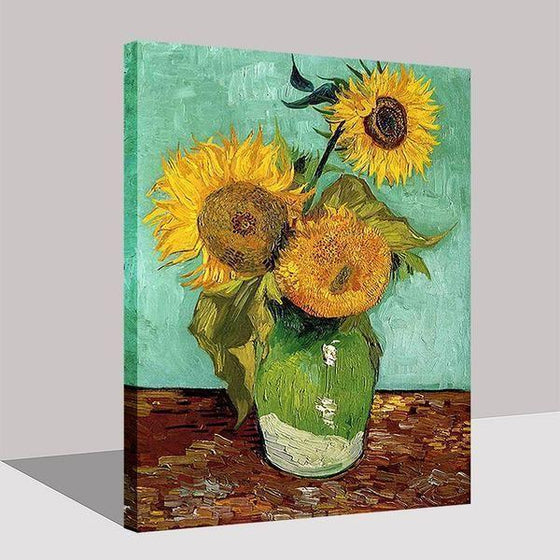 Van Gogh Sunflowers Canvas Printed