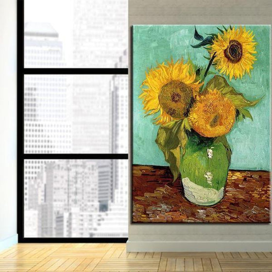 Van Gogh Sunflowers Canvas Wall Art