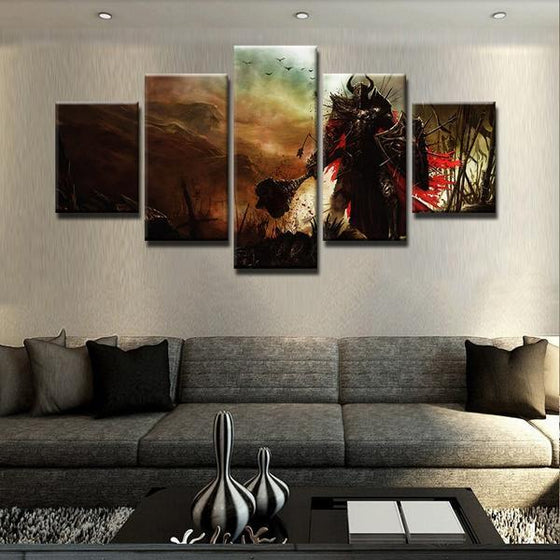 Diablo 3 Paladin Canvas Wall Art