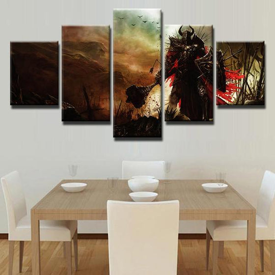 Diablo 3 Paladin Canvas Wall Art Dining Room