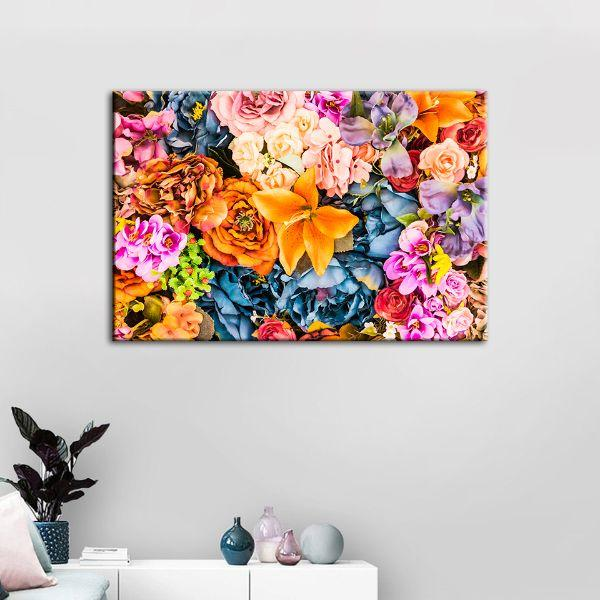 Vintage Assorted Flowers Canvas Wall Art Decor
