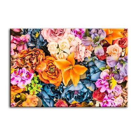 Vintage Assorted Flowers Canvas Wall Art
