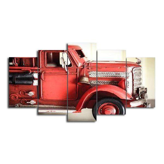 Vintage Fire Engine Canvas Wall Art
