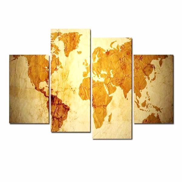 Old World Map Canvas.Old World Map Canvas Wall Art