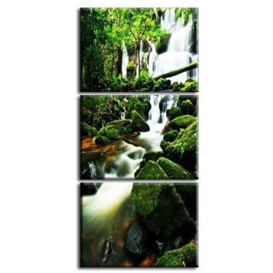 Virgin Forest Waterfall Canvas Wall Art