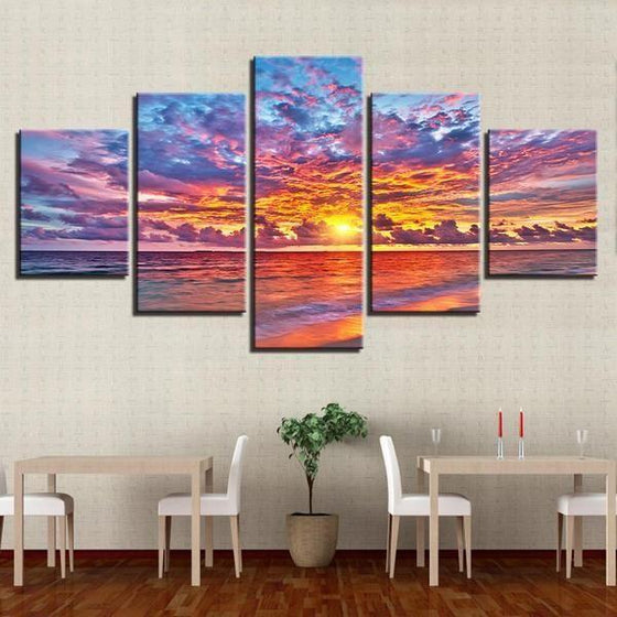 Wall Art Beach Canvas Sunset Decor