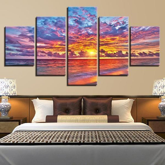 Wall Art Beach Canvas Sunset Decors