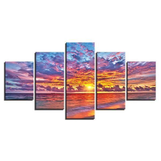 Wall Art Beach Canvas Sunset Idea
