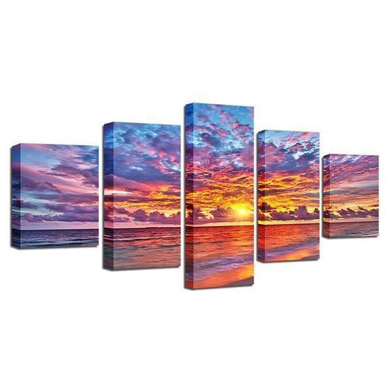 Wall Art Beach Canvas Sunset Ideas