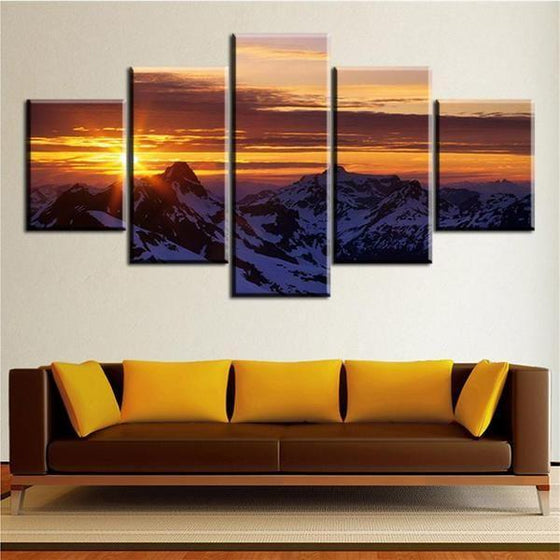 Wall Art Beach Canvas Sunset Prints