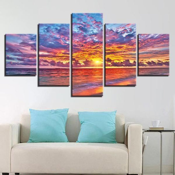 Wall Art Beach Canvas Sunset