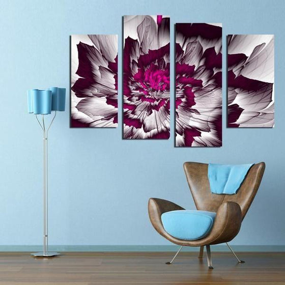 Bright Purple Peony Canvas Wall Art