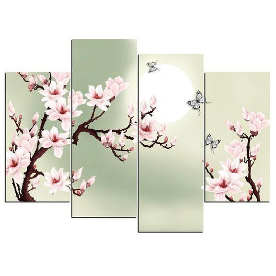 Cherry Blossoms With Sunlight Canvas Wall Art Prints