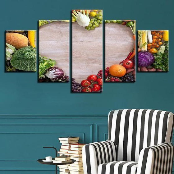 Wall Art Fruit And Vegetables Canvas