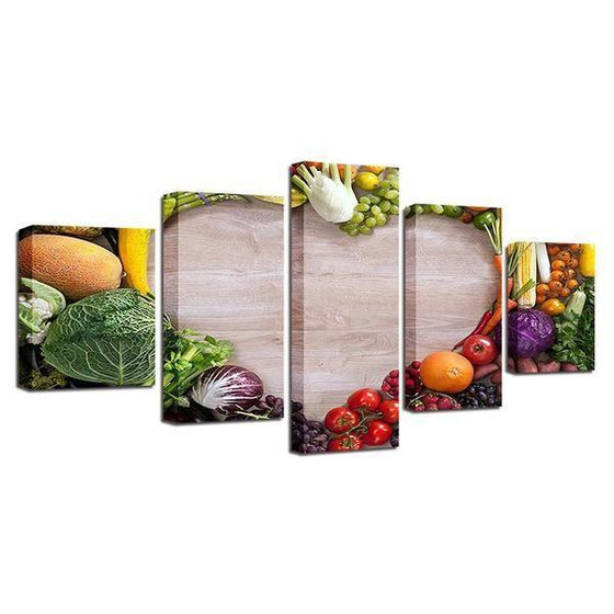 Wall Art Fruit And Vegetables Print