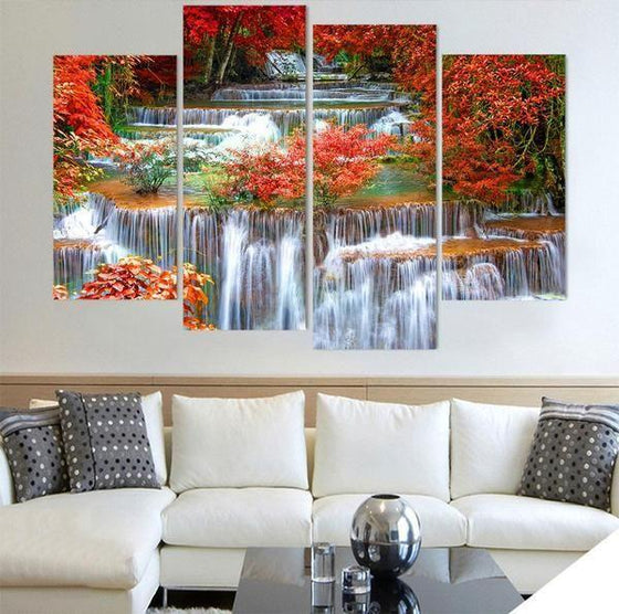 Wall Art Glass Waterfall Canvases