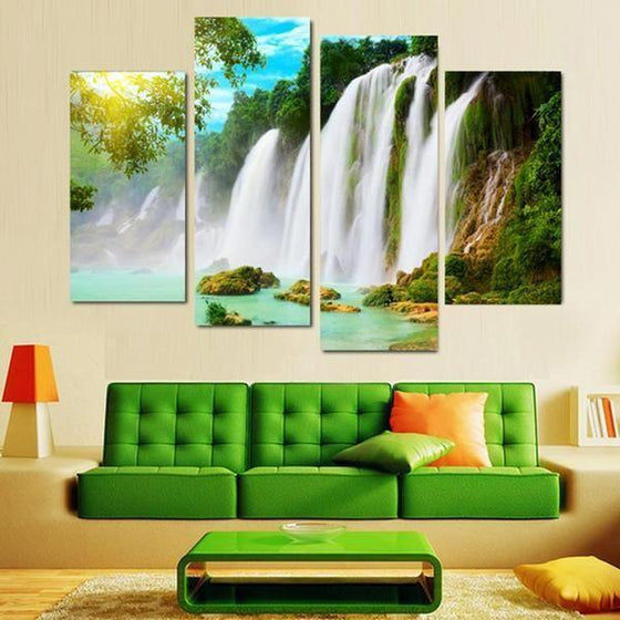 Wall Art Glass Waterfall Prints