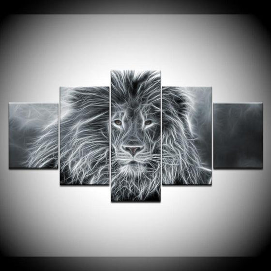 Wall Art Lion Black And White Decors