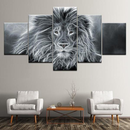 Wall Art Lion Black And White