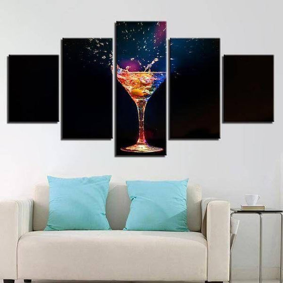 Colorful Cocktail Canvas Wall Art Home Decor