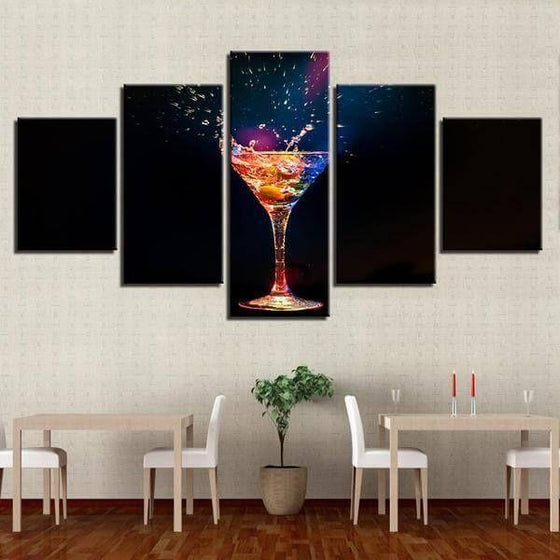 Colorful Cocktail Canvas Wall Art Decor