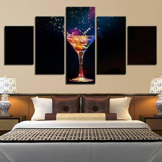 Colorful Cocktail Canvas Wall Art Bedroom