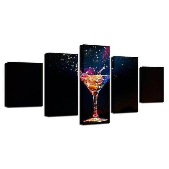 Colorful Cocktail Canvas Wall Art Prints