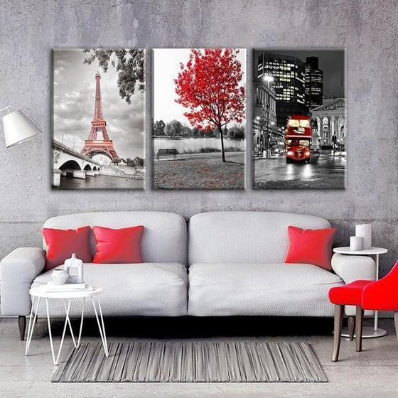 Wall Art Metal Architectural Canvas