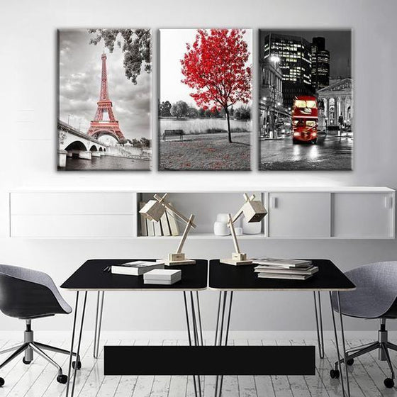 Wall Art Metal Architectural Canvases