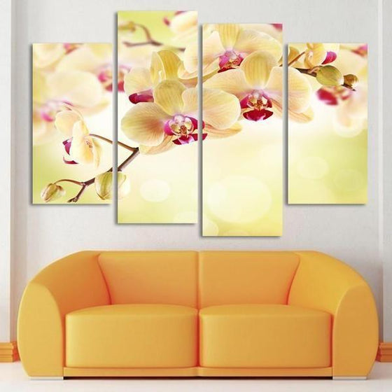 Wall Art Metal Flowers Canvases
