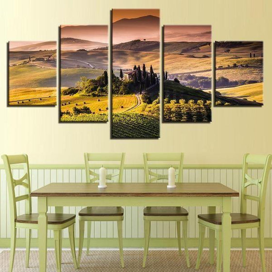 Alban Hills Of Frascati Canvas Wall Art Dining Room