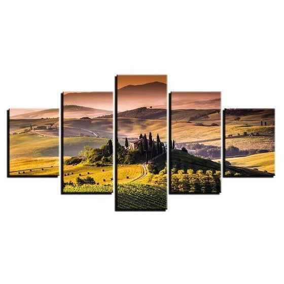 Alban Hills Of Frascati Canvas Wall Art