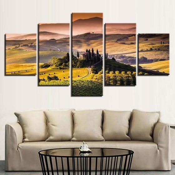Alban Hills Of Frascati Canvas Wall Art Living Room
